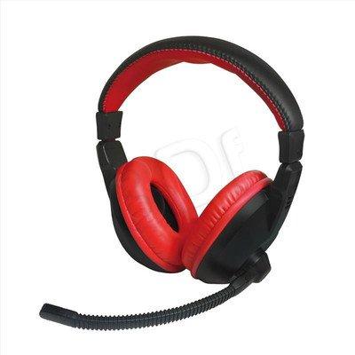 Słuchawki nauszne z mikrofonem Vakoss Xzero X-H350HK (Czarno-czerwony)