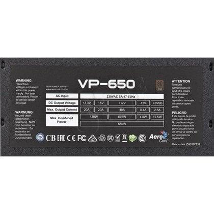 ZASILACZ AEROCOOL PGS VP-650 (650W) 80+ BRONZE