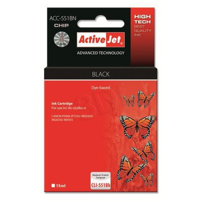 ActiveJet ACC-551BN tusz czarny do drukarki Canon (zamiennik Canon CLI-551Bk) Supreme/ chip