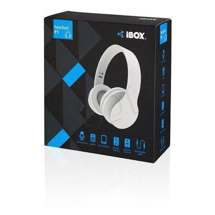 Słuchawki nauszne z mikrofonem Ibox SHPIF1 (Biały)