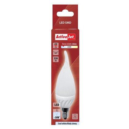 ActiveJet AJE-DS3014CF-C Lampa LED SMD płomyk 320lm 4W E14 barwa biała zimna