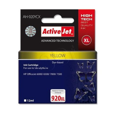 ActiveJet AH-920YCX tusz yellow do drukarki HP (zamiennik HP 920XL CD974AE)