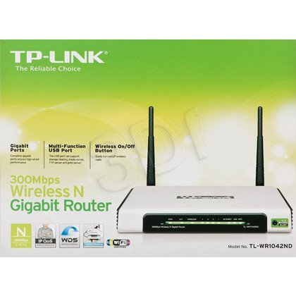 TP-LINK [TL-WR1042ND] Bezprzewodowy router, standard N, 300Mb/s, gigabitowe porty Ethernet