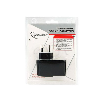 ŁADOWARKA ADAPTER 220V -> USB BLACK
