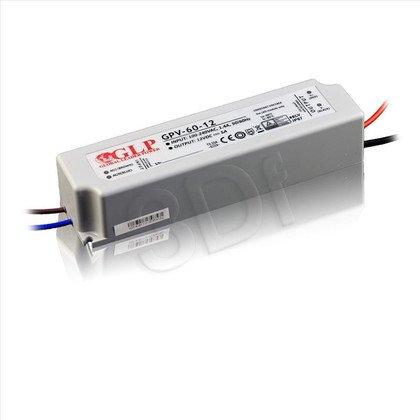 Zasilacz stałonapięciowy do LED GLP GPV-60-12 (12V 60W) HERMETYCZNY
