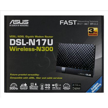 ASUS DSL-N17U Wireless VDSL 2/ADSL Modem N300 Router