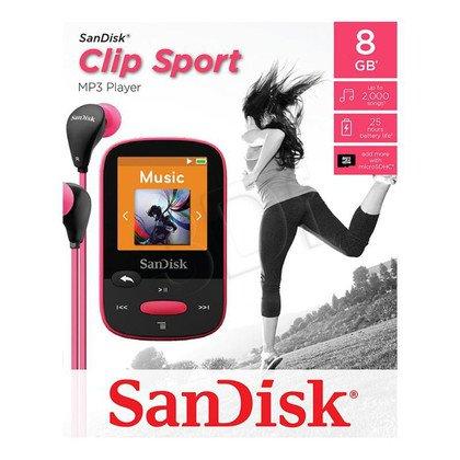 SANDISK MP3 SANSA CLIP SPORTS 8GB RÓŻOWA