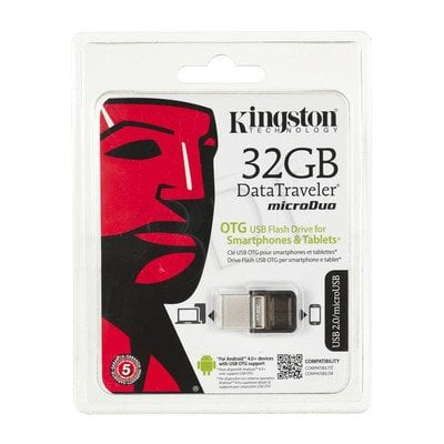 Kingston Flashdrive DataTraveler microDuo 32GB USB 2.0 Brązowy