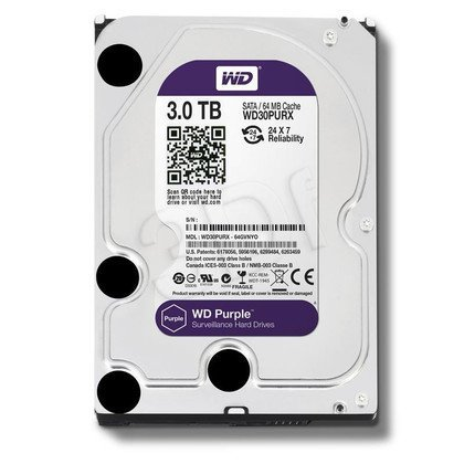 "Dysk HDD Western Digital PURPLE 3,5"" 3TB SATA III 64MB 5400obr/min"