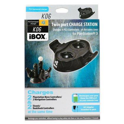 ŁADOWARKA iBOX K6 TWIN CHARGER 2xMOVE 2xGAMEPAD PS3