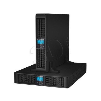 """POWER WALKER UPS ON-LINE 1000VA 8X IEC OUT, USB/RS-232, LCD, RACK 19""""/TOWER"""