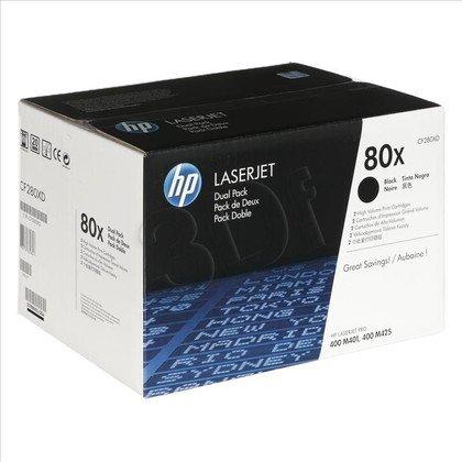 HP Toner HP80Xx2=CF280XD, Zestaw 2xBk, 2xCF280X