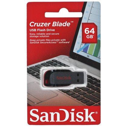 Sandisk Flashdrive CRUZER BLADE 64GB USB 2.0 Czarno-czerwony