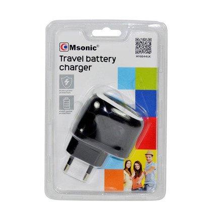 MSONIC ŁADOWARKA SIECIOWA 1X USB, 1A, AC 100~240V MY6644UK CZARNA