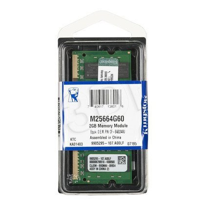 KINGSTON DED.NB M25664G60 2GB 800MHz DDR2