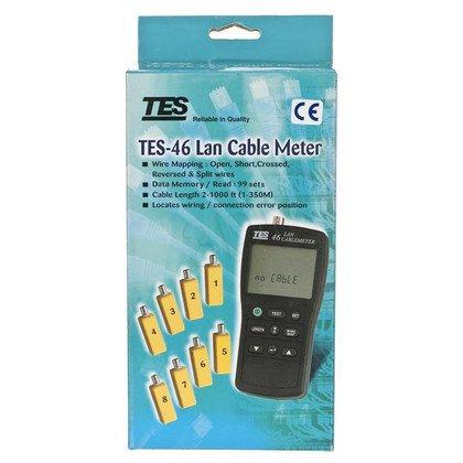 ALANTEC Tester i miernik kabli sieciowych TES46 LCD