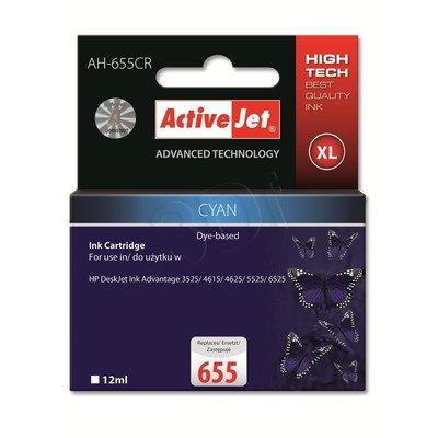 ActiveJet AH-655CR tusz cyan do drukarki HP (zamiennik HP 655 CZ110AE) Premium