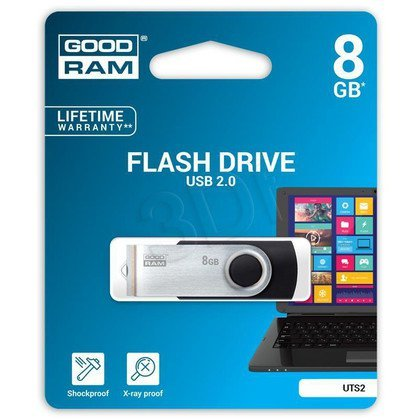 Goodram Flashdrive Twister 8GB USB 2.0 czarny