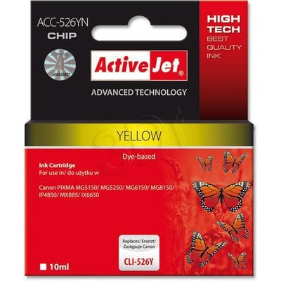 ActiveJet ACC-526Y (ACC-526YN) tusz yellow do drukarki Canon (zam. CLI-526Y) (CHIP)