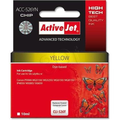 ActiveJet ACC-526Y (ACC-526YN) tusz yellow do drukarki Canon (zam. CLI-526Y) (CHIP)