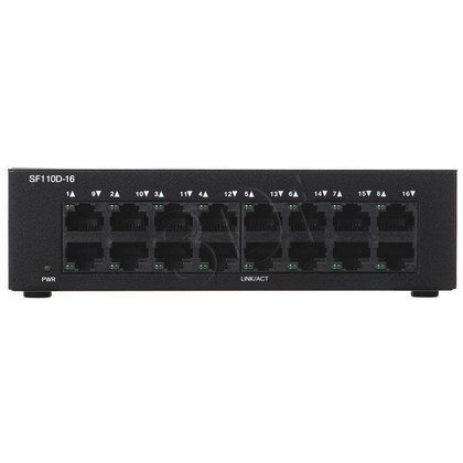 CISCO SF110D-16-EU 16x10/100 Switch Rack