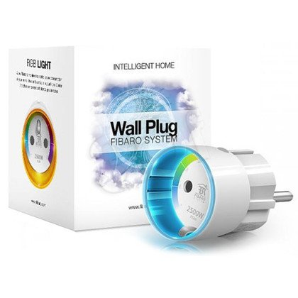 FIBARO Wall Plug - zdalnie sterowany, inteligentny włącznik sprzętów elektrycznych z funkcją pomiaru zużywanej energii