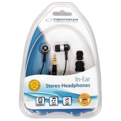Słuchawki douszne Esperanza EH128 (Czarno-srebrny)