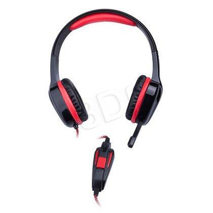 Słuchawki nauszne z mikrofonem Natec H22 (Czarno-czerwony)