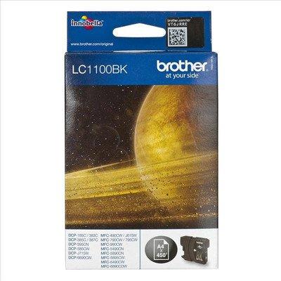 BROTHER Tusz Czarny LC1100BK=LC-1100BK, 450 str.