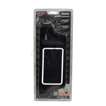 """X-ZERO PAS SPORTOWY NA TELEFON MAX. 5,5"""", KIESZEŃ NA KARTY/KLUCZE X-P3781K CZARNY"""