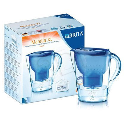 Dzbanek filtrujący BRITA Marella XL niebieski + 4 wkłady Maxtra (niebieski)