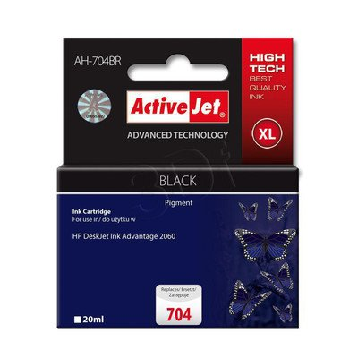 ActiveJet AH-704BR tusz czarny do drukarki HP (zamiennik HP 704 CN692AE)