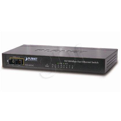 PLANET / Nie Zarządzalny / (FSD-805S15) - 8 x 10/100Mbps + 1 x 100Base-FX - 1.6Gbps, 2K, 1Mbit Obudowa Metalowa