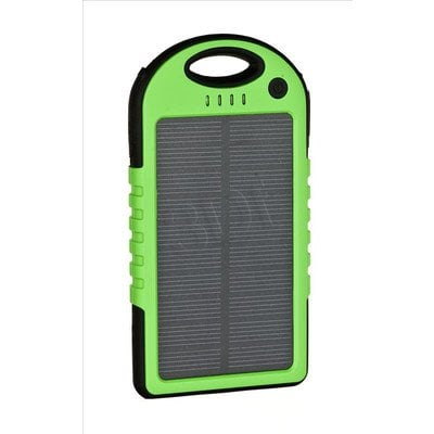 PowerNeed Ładowarka solarna S5000G 5000mAh USB zielona