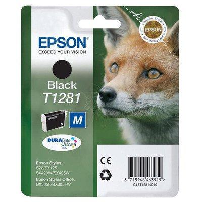 EPSON Tusz Czarny T1281=C13T12814011, 5.9 ml