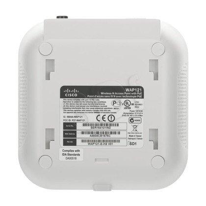 CISCO [WAP121] Bezprzewodowy punkt dostępowy o przepustowości 300 Mbps [PoE 802.3af]