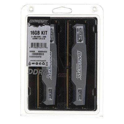 Crucial Ballistix DDR4 UDIMM 16GB 2400MT/s (2x8GB) BLS2C8G4D240FSA