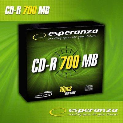 CD-R ESPERANZA 700MB/80min. Slim 10szt. 56x