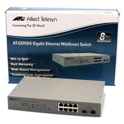 Allied Telesis WebSmart (AT-GS950/8) 8x10/100/1000Mbps, 2xSFP combo