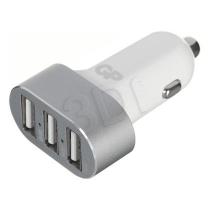 GP ŁADOWARKA SAMOCHODOWA USB(2x2.4A+1.5A),BIAŁA