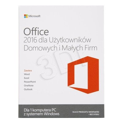 Office Home and Business 2016 Win PL Medialess