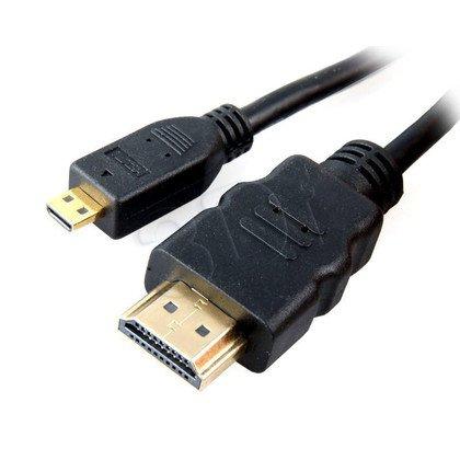 KABEL POŁĄCZENIOWY HDMI-micro HDMI (A-D) v1.4 1M
