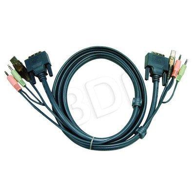 ATEN 2L-7D02UD Kabel DVI/USB + Audio 2.0m