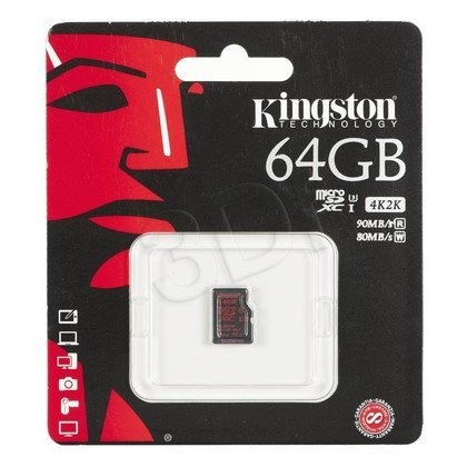 Kingston micro SDHC SDCA3/64GBSP 64GB Class 10,UHS Class U3