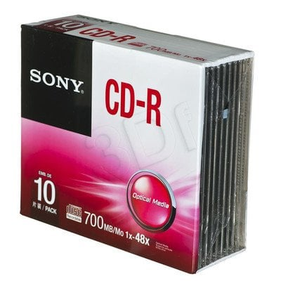 CD-R Sony 10CDQ80SS 700MB 48x