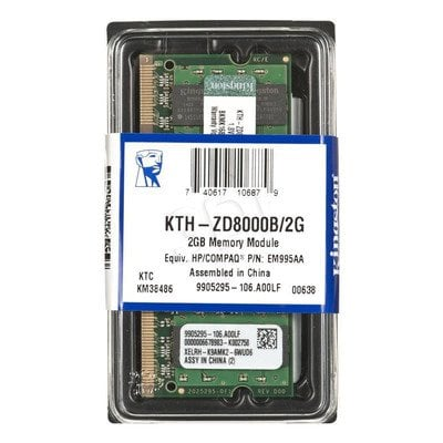 KINGSTON DED.NB KTH-ZD8000B/2G 2GB 667MHz DDR2