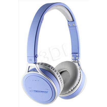 Słuchawki nauszne z mikrofonem Esperanza YOGA (Niebieskie Bluetooth)