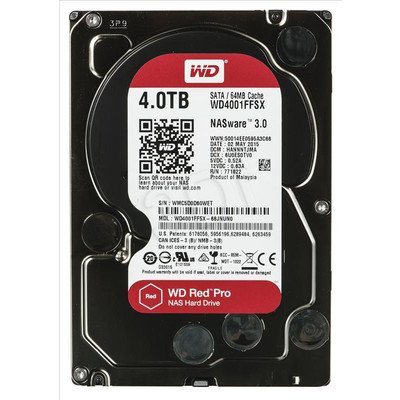 Dysk HDD Western Digital WD RED PRO 4000GB SATA III 64MB
