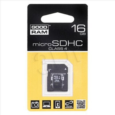 SECURE DIGITAL MICRO 16GB GOODRAM + adapter