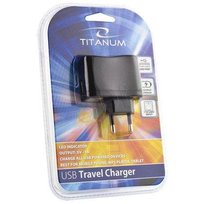 TITANUM UNIWERSALNA ŁADOWARKA SIECIOWA USB, 1A TZ108